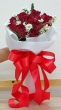 12 Fresh Red Thai Roses - Round Bouquet (S)