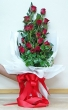 20 Fresh Red Thai Roses - Tall Bouquet (L)