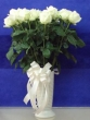 35 Fresh White Chinese Roses in Vase