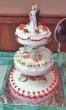 3-Tier Indoor Wedding Cake (14 pounds)