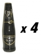 4 Bottles of Spy Wine Cooler - Black