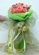 XX (9-18) Fresh Orange Chinese Roses - Round Bouquet