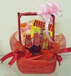 Basket of 3 Bottles of Spy Wine Cooler (Mixed) and 2 Thai Snacks
