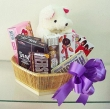 Chocolate Gift Basket with Soft Toy (M)