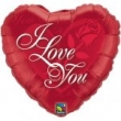 Floating Foil Balloon - I Love You Rose Heart (L)
