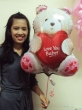 Floating Foil Balloon - Big Bear with Love You Heart (XL)