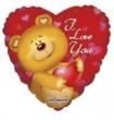 Floating Foil Balloon - Cute Bear I Love You (L)