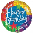 Floating Foil Balloon - Happy Birthday Stars (L)