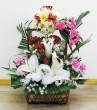 Fresh Multicolour Mixed Flowers - Basket 5 (M)