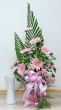 Fresh Pink Gerberas in Vase (L)