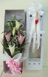 Fresh Pink & White Lilies Bouquet in Tall Presentation Box