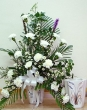 Fresh White Carnations in Vase (XL)