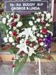 Fresh White and Red Round Wreath