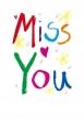 Miss You Card (Printed) 2