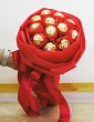 Red Bouquet of 12 Ferrero Rocher Chocolates (XL)