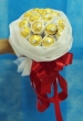 White Bouquet of 12 Ferrero Rocher Chocolates (XL)
