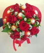 XX (9-12) Red Chinese Roses with XX Red-wrapped Chocolates