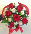 XX (9-12) Red Chinese Roses with XX White-wrapped Chocolates